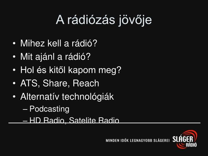 A rádiózás jövője