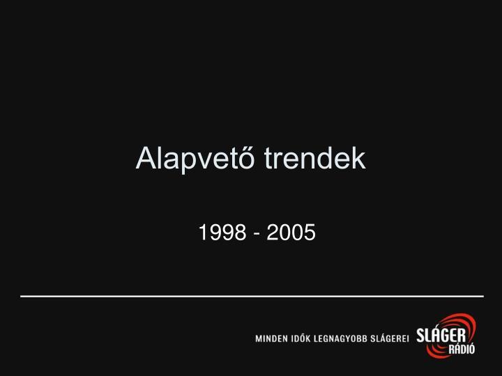 Alapvető trendek