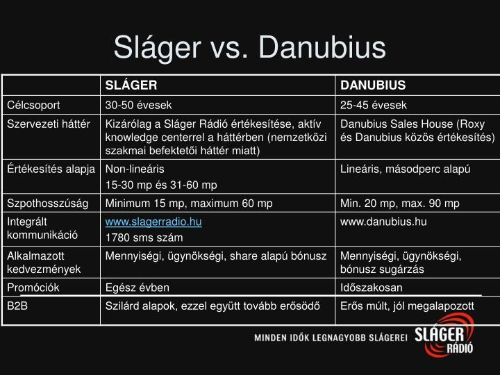 Sláger vs. Danubius