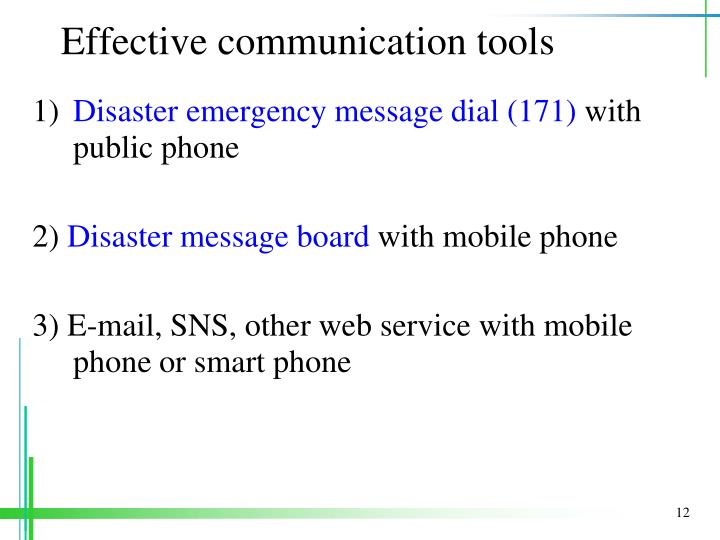 Effective communication tools