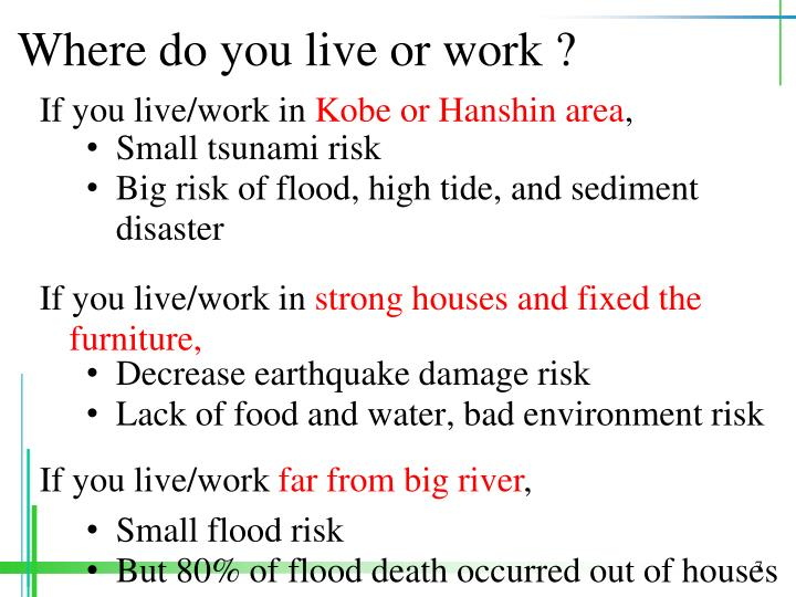 Where do you live or work ?