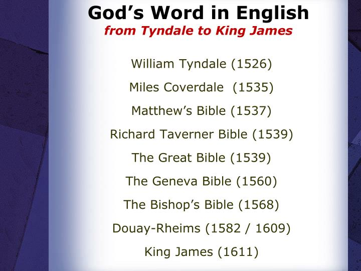God's Word in English