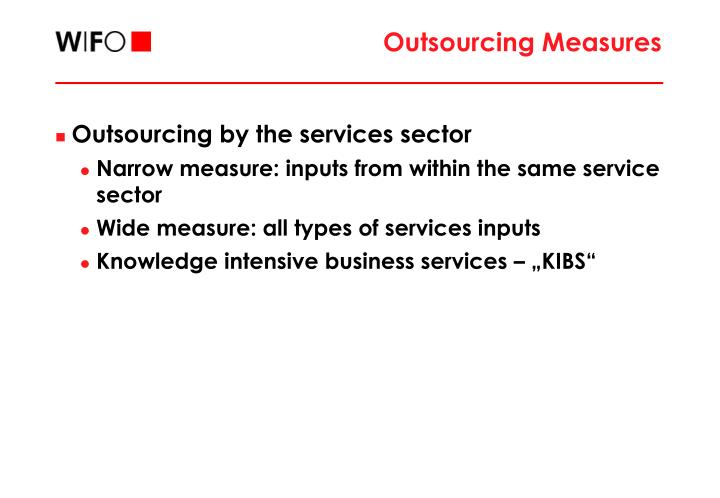 Outsourcing Measures