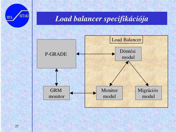 Load balancer specifikációja