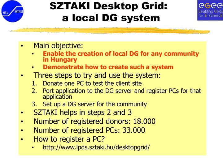 SZTAKI Desktop Grid