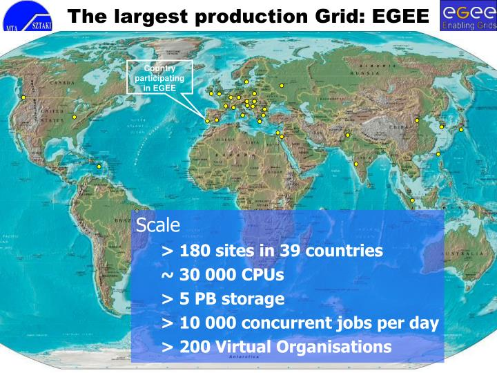 The largest production Grid: EGEE