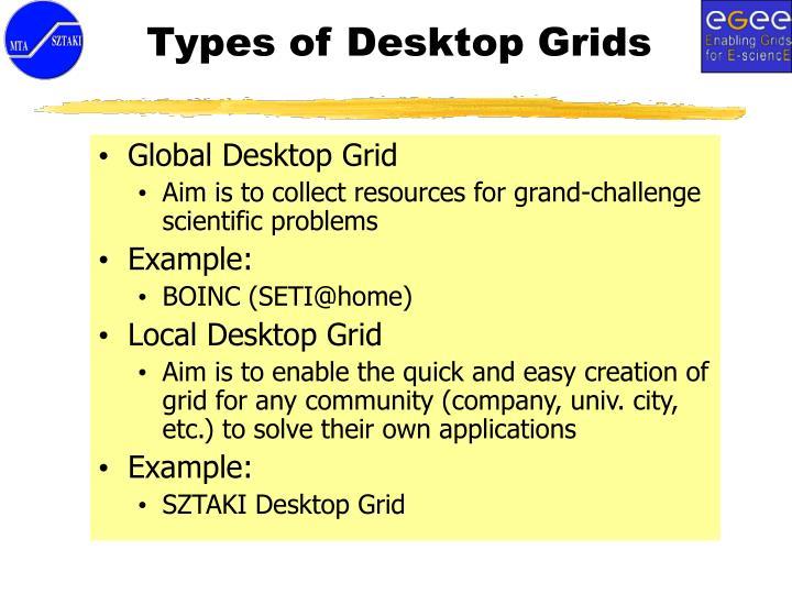 Types of Desktop Grids