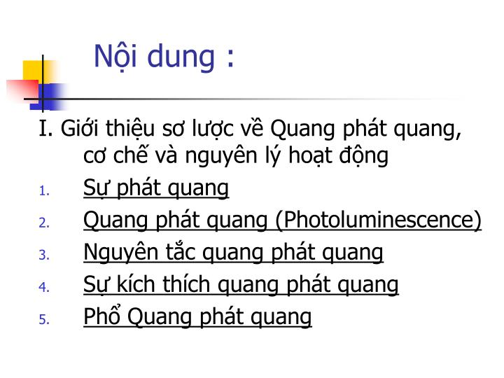 Nội dung :