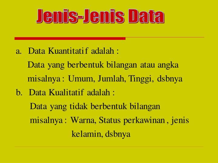 Jenis-Jenis Data