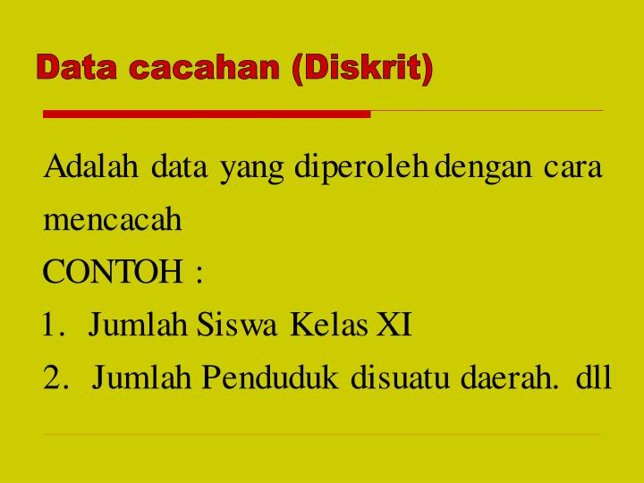 Data cacahan (Diskrit)