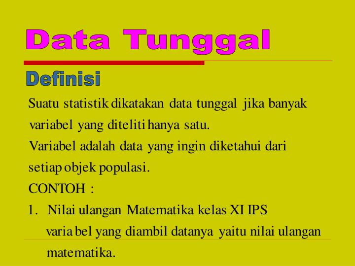 Data Tunggal