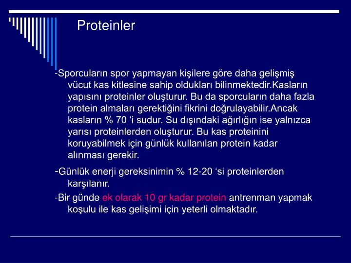 Proteinler