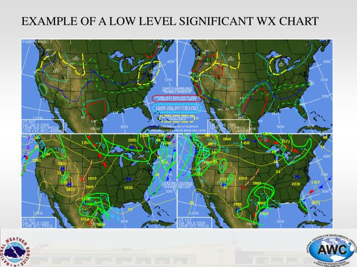 EXAMPLE OF A LOW LEVEL SIGNIFICANT WX CHART