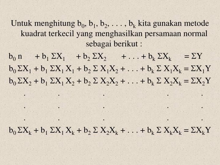 Untuk menghitung b