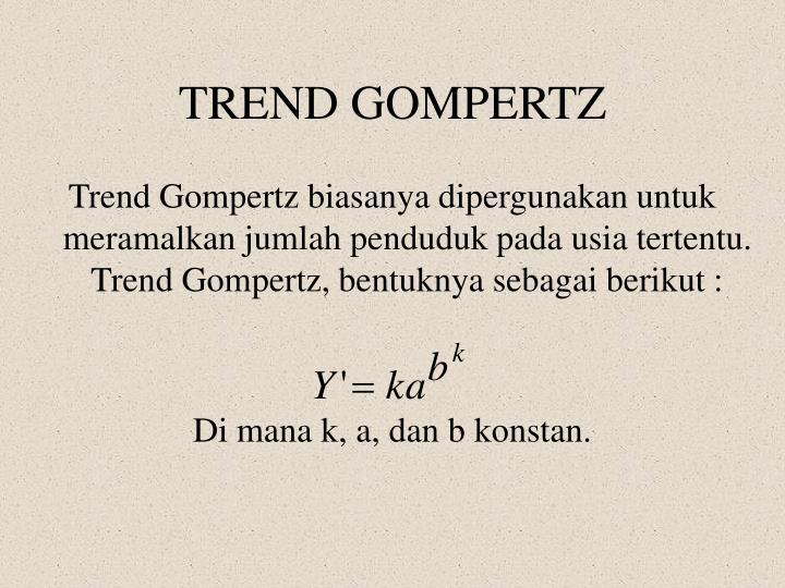 TREND GOMPERTZ