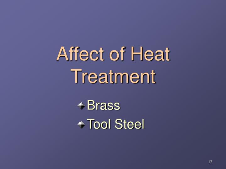 Affect of Heat Treatment