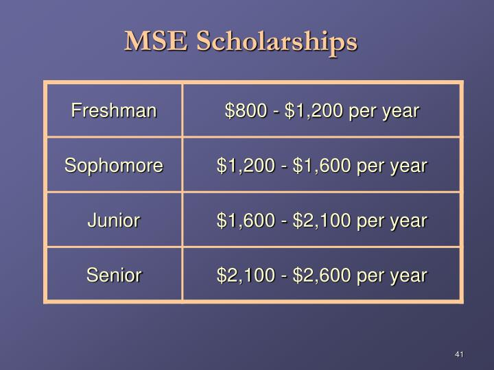 MSE Scholarships