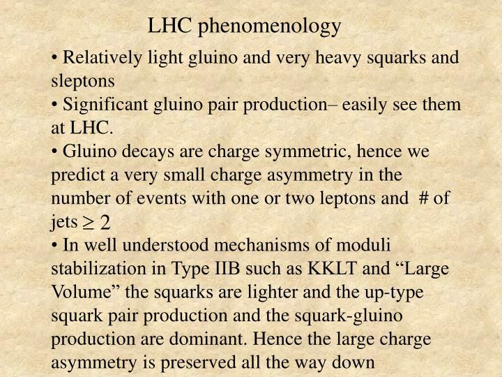 LHC phenomenology