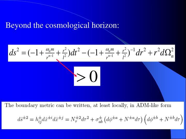 Beyond the cosmological horizon: