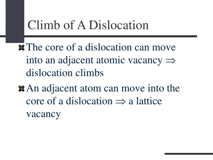 Climb of A Dislocation