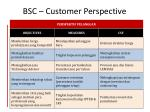 bsc customer perspective