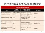 identifikasi berdasarkan bsc1