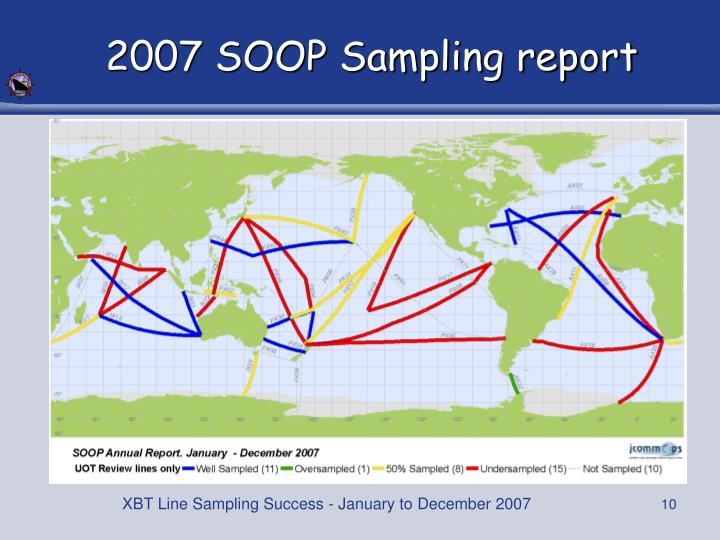 2007 SOOP Sampling report