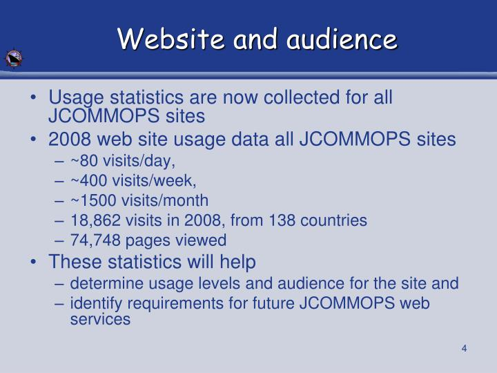 Website and audience