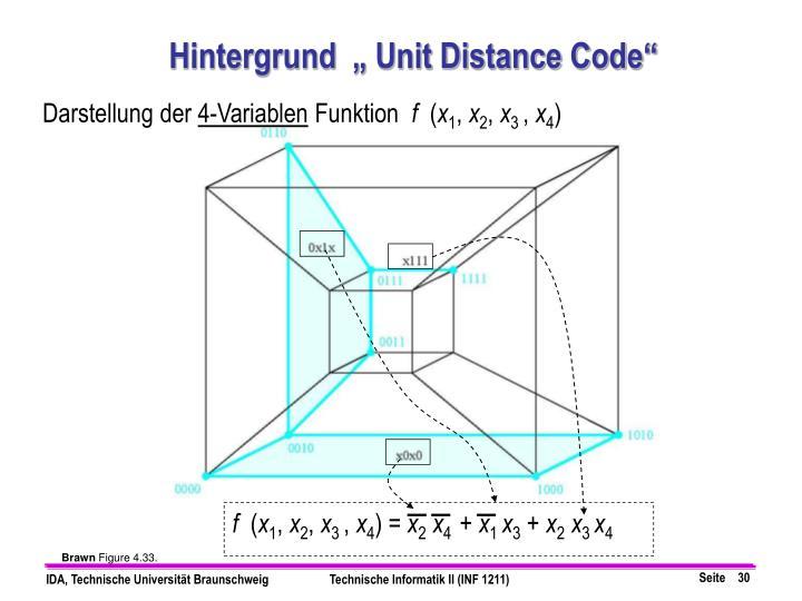 """Hintergrund  """" Unit Distance Code"""""""