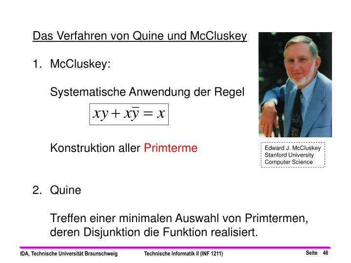Das Verfahren von Quine und McCluskey