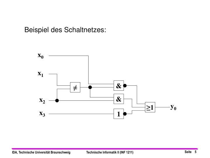 Beispiel des Schaltnetzes: