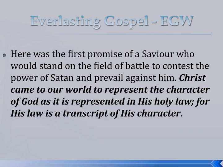 Everlasting Gospel - EGW