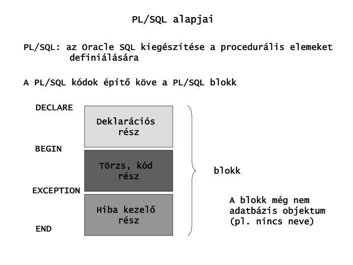 PL/SQL alapjai