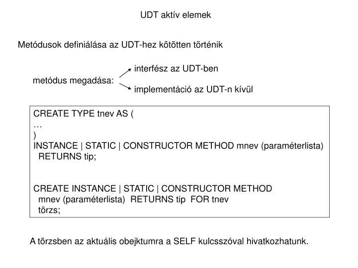UDT aktív elemek