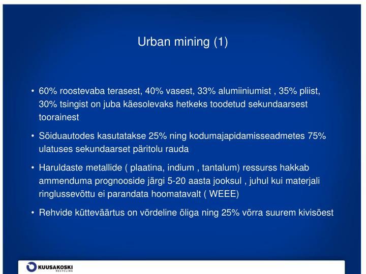 Urban mining (1)