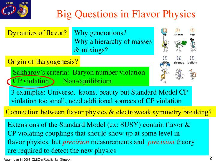 Big Questions in Flavor Physics