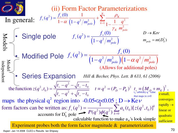 (ii) Form Factor Parameterizations