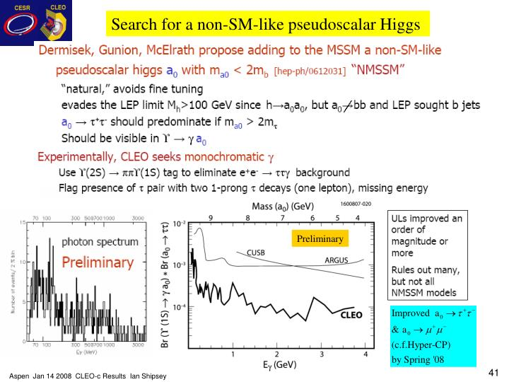 Search for a non-SM-like pseudoscalar Higgs