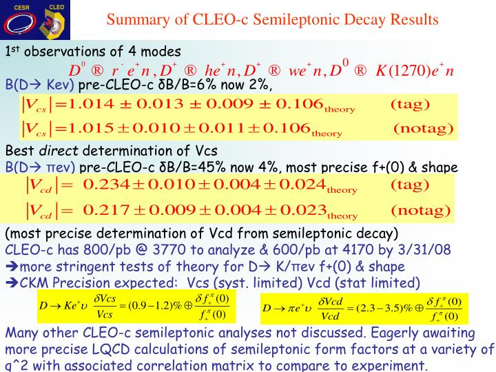 Summary of CLEO-c Semileptonic Decay Results