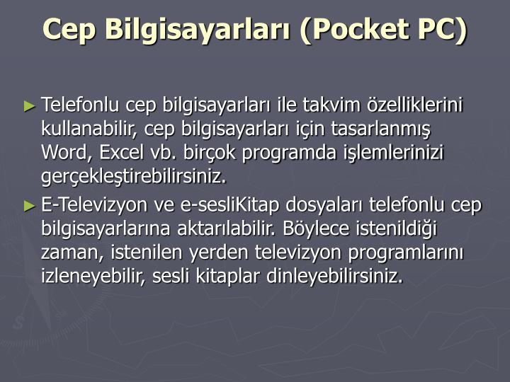 Cep Bilgisayarları (Pocket PC)