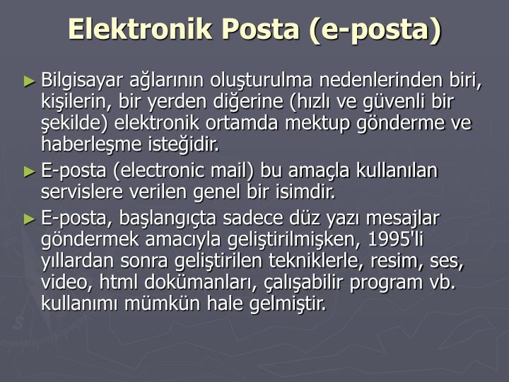 Elektronik Posta (e-posta)