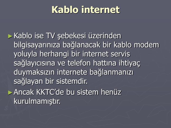 Kablo internet