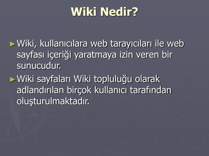 Wiki Nedir?