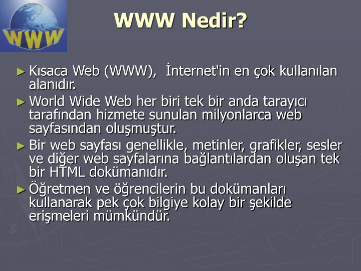 WWW Nedir?