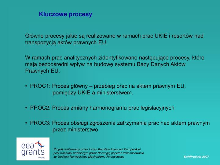 Kluczowe procesy