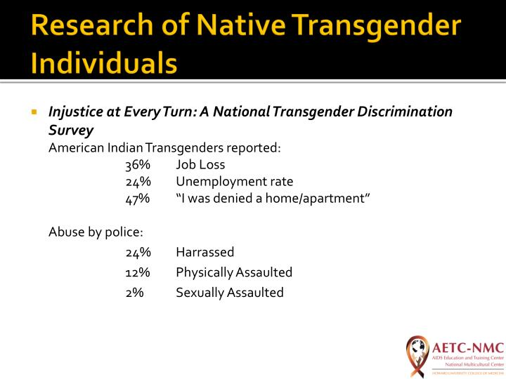 Research of Native Transgender Individuals