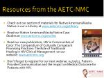 resources from the aetc nmc