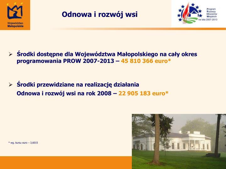 Odnowa i rozwój wsi