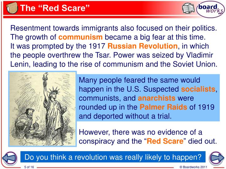 "The ""Red Scare"""