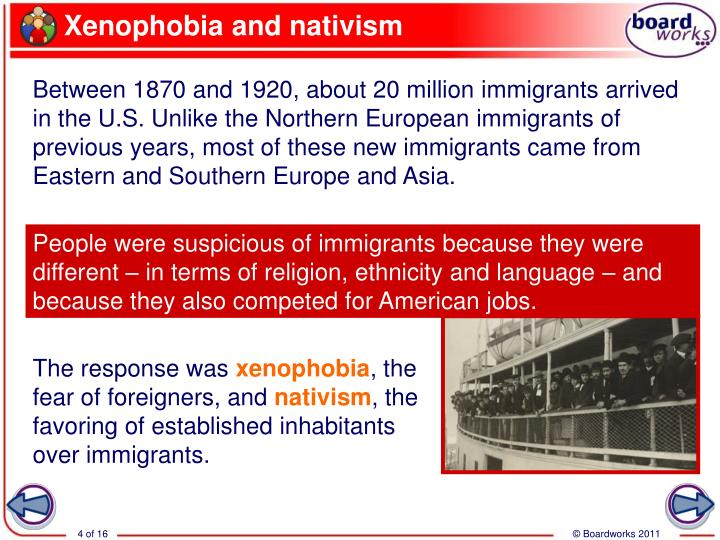 Xenophobia and nativism